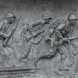 Bas relief, World War II Memorial, Library of Congress