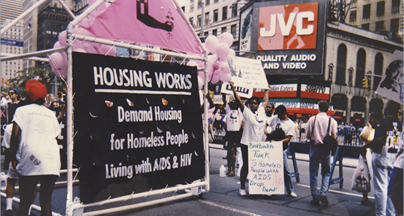A home on wheels—Housing Works' first Gay Pride float, June 30, 1991.