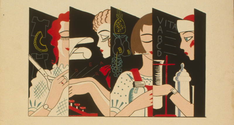 """""""Girls—Are You Interested in a Job?"""" WPA poster, c. 1936. Library of Congress, Prints and Photographs Division."""