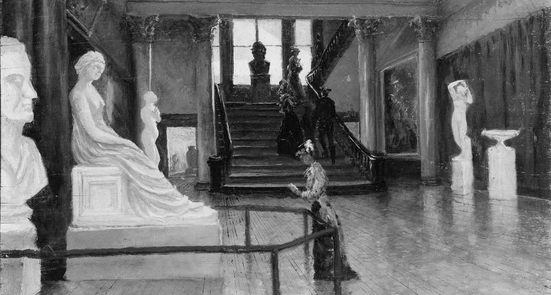 Entrance Hall of the Metropolitan Museum of Art when in Fourteenth Street   Frank Waller