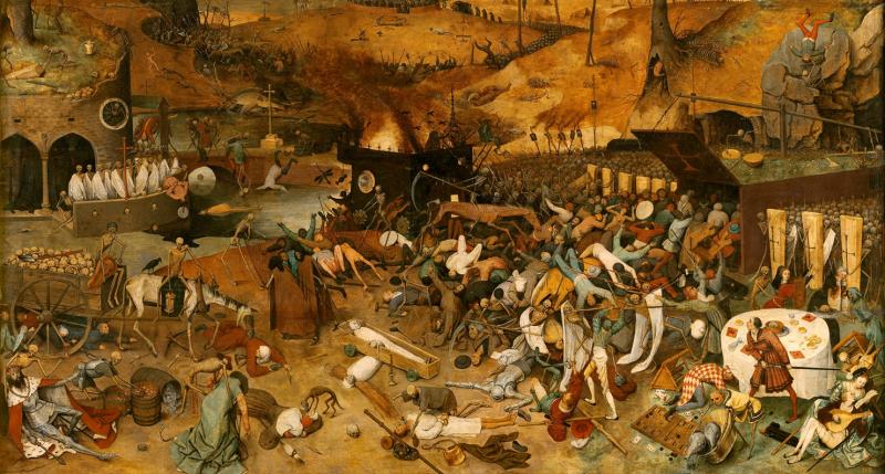 The Triumph of Death (detail), by Pieter Bruegel the Elder, 1562–63. Prado Museum.