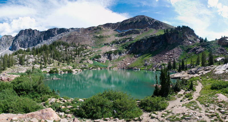 Cecret Lake in the Albion Basin area near Alta, Utah. Photograph by Jeffrey McGrath. CC BY-SA 3.0.