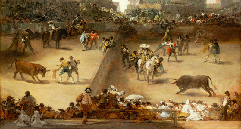Bullfight in a Divided Ring, attributed to Goya. The Metropolitan Museum of Art, Catharine Lorillard Wolfe Collection, Wolfe Fund, 1922.