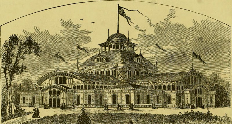 The Women's Pavilion at the United States' first world fair, Philadelphia, 1876.