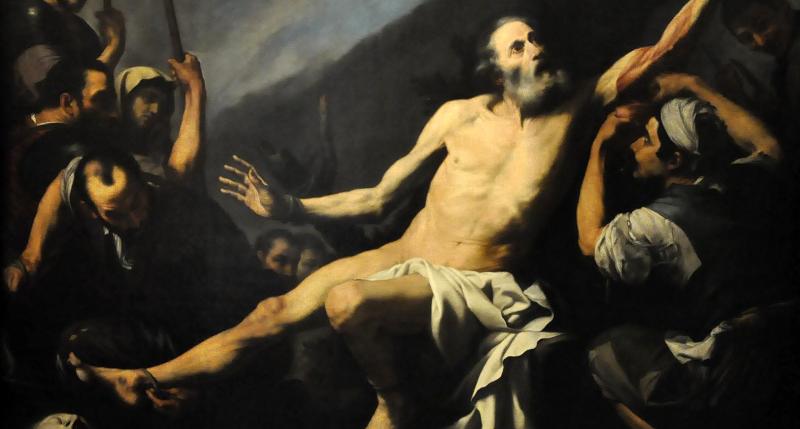 Martyrdom of Saint Bartholomew by Jusepe de Ribera. Italy, 17th century. Museo de las Bellas Artes de San Fernando, Madrid, Spain. WikiArt.