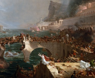 The Course of Empire: Destruction, by Thomas Cole, 1836.