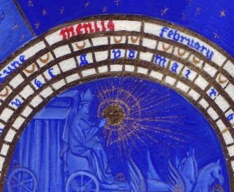 A medieval calendar for February.