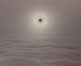 Solar eclipse, by Carleton Watkins, 1889.