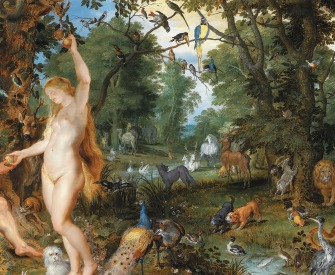 The garden of Eden with the Fall of Man, by Peter Paul Rubens and Jan Brueghel the Elder, c. 1615. Mauritshuis, The Hague, Netherlands.