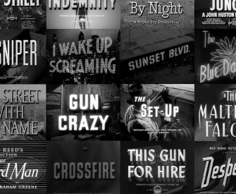 Film noir title screens.