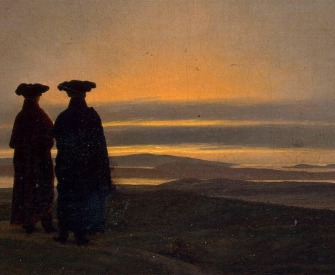 Evening Landscape with Two Men by Caspar David Friedrich.