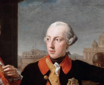 Emperor Joseph II with Grand Duke Pietro Leopoldo of Tuscany, by Pompeo Batoni, 1769.
