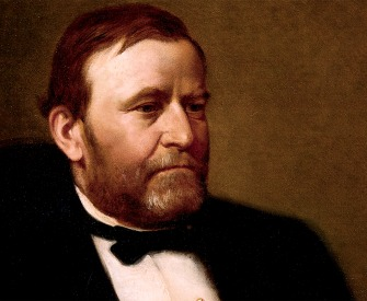 Official White House portrait of President U.S. Grant, by Henry Ulke, 1875.