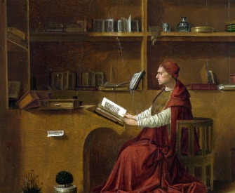 Saint Jerome in his Study, by Antonello da Messina, c. 1475. National Gallery, London, England.