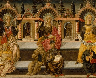 The Seven Liberal Arts, by Giovanni di ser Giovanni Guidi, c. 1460. Museu Nacional d'Art de Catalunya, Barcelona, Spain.