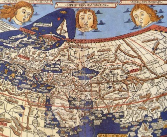 A map of the world constructed after the coordinates in Ptolemy's Geography, engraved by Johannes Schnitzer, 1482.
