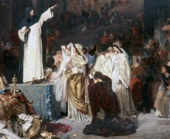 Savonarola Preaching Against Prodigality by Ludwig von Langenmantel.