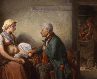 The Doctor, by Friedrich Friedländer, 1870.