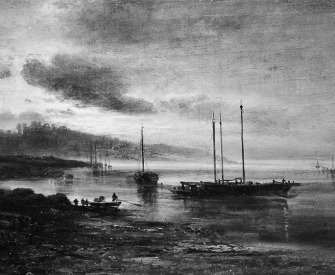 Night Scene on the Volga, Alexei Kondratievich Savrasov. The Met.