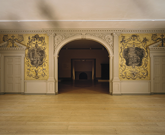 Door from the Great Hall of Van Rensselaer Manor House, Albany, New York, 1765–69. The Metropolitan Museum of Art, Gift of the Trustees of Sigma Phi Society of Williams College, 1931.