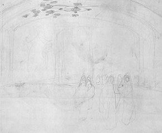 """Study for """"Women Approaching,"""" by John Singer Sargent, c. 1890. The Metropolitan Museum of Art, Gift of Mrs. Francis Ormond, 1950."""