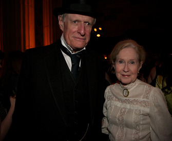 Photograph of Arthur Yorke Allen and Mary Stewart Hammond at the 1870s Decade Ball, 2014.