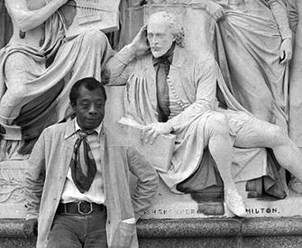 James Baldwin at the Albert Memorial, c. 1969.