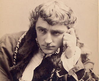 Kyrle Bellew as Hamlet, c. 1875. New York Public Library, Billy Rose Theatre Division.
