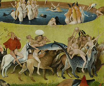 The Garden of Earthly Delights (detail), by Hieronymus Bosch, 1490–1510. Prado Museum.