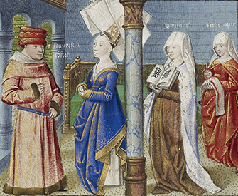 Philosophy Presenting the Seven Liberal Arts to Boethius (detail), by Coëtivy Master, c. 1460–70. The J. Paul Getty Museum. Digital image courtesy of the Getty's Open Content Program.
