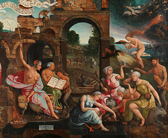 Saul and the Witch of Endor, by Jacob Cornelisz van Oostsanen, 1526. Rijksmuseum.