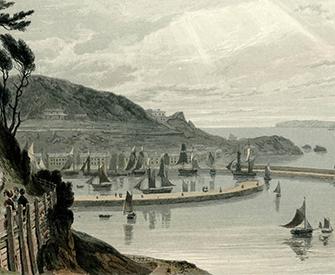 Torquay, Devon, by William Daniell, 1825. The British Museum.