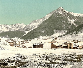 Davos, Dorfli, and Seehorn in Winter, c. 1890. Library of Congress, Prints and Photographs Division.