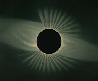 A total eclipse of the sun, as seen in the Wyoming Territory, 1878. Photograph by E.L. Trouvelot.