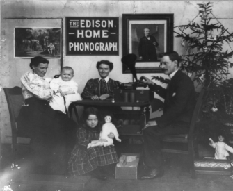 Family listening to an Edison Home Phonograph, c. 1897. Library of Congress, Prints and Photographs Division, Washington, DC.