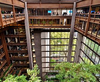 Inside the Ford Foundation Building in midtown Manhattan, 2015. Photograph by Gigi Altarejos.
