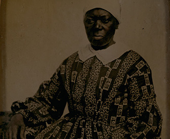 """""""Mammy Kitty"""" (detail), c. 1860, ambrotype. Ellis Family Daguerreotypes, Accession #2516-c, Albert and Shirley Small Special Collections Library, University of Virginia."""