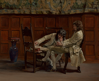 A Difficult Question (Une Question Difficile), by Ignaz Marcel Gaugengigl, 1883. The Metropolitan Museum of Art, Bequest of Martha T. Fiske Collord, in memory of Josiah M. Fiske, 1908.