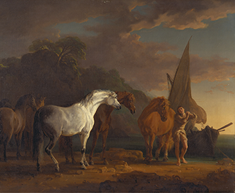 Gulliver Taking His Final Leave of the Land of the Houyhnhnms, by Sawrey Gilpin, 1769. Yale Center for British Art, Paul Mellon Collection.