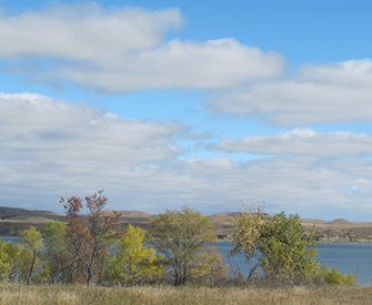 Lake Oahe, near the town of Cannon Ball, ND, 2016. Photograph by Rebecca Bengal.