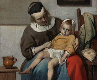 The Sick Child, by Gabriël Metsu, c. 1665. Rijksmuseum.