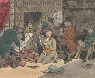 Book Dealers Inspect a Library, by Henri Bonaventure Monnier, 1829. Rijksmuseum.