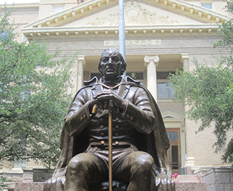 Statue of José Antonio Navarro, Navarro County Courthouse, Corsicana, Texas. Photograph by Billy Hathorn, CC BY-SA 3.0.