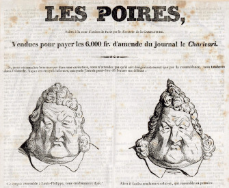 Les Poires (The Pears), by Charles Philipon, 1831. Wikimedia Commons, Bibliothèque nationale de France.