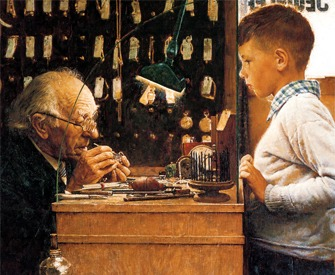 Norman Rockwell, from an advertisement for The Watchmakers of Switzerland, 1953.