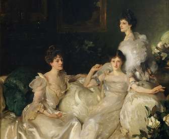 """""""The Wyndham Sisters: Lady Elcho, Mrs. Adeane, and Mrs. Tennant,"""" by John Singer Sargent, 1899. The Metropolitan Museum of Art, Catharine Lorillard Wolfe Collection, Wolfe Fund, 1927."""