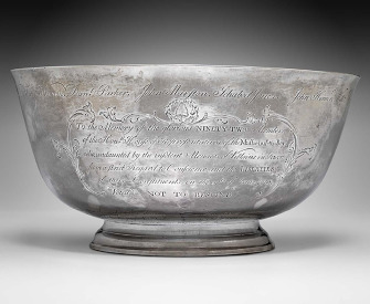 Sons of Liberty bowl, by Paul Revere, 1768