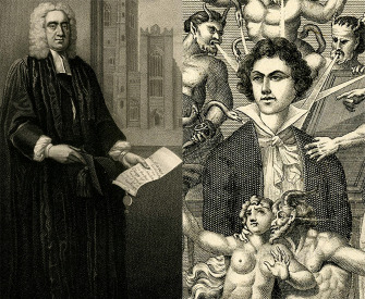 Engravings of Jonathan Swift by Edward Scriven, after Francis Bindon, 1818, and of the Marquis de Sade, by H. Biberstein, nineteenth century.