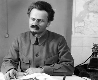 Leon Trotsky at his desk, c. 1920