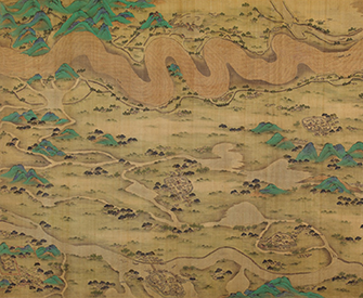Ten Thousand Miles along the Yellow River (detail), by an unidentified Chinese artist, 1690–1722. The Metropolitan Museum of Art.
